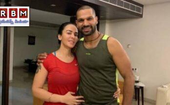 shikhar dawan and his wife